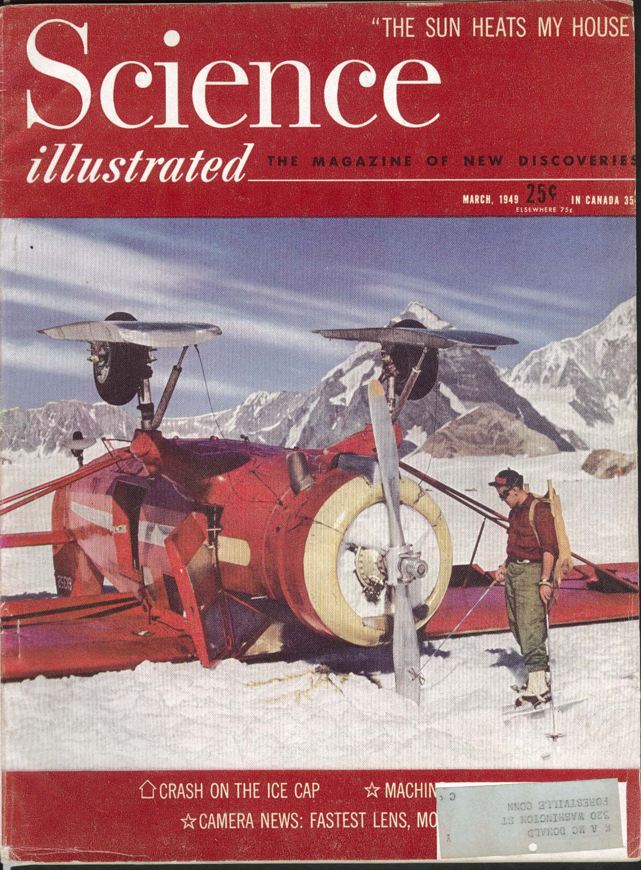 SCIENCE ILLUSTRATED Ice Cap Crash Heinz Foods 3 1949