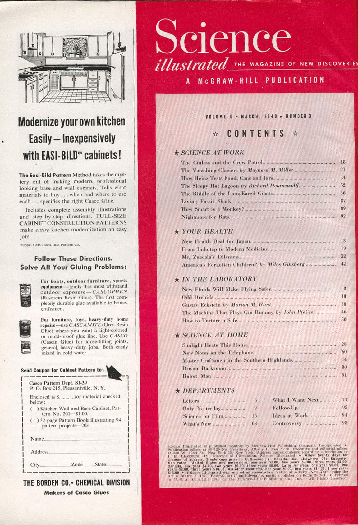SCIENCE ILLUSTRATED Ice Cap Crash Heinz Foods 3 1949