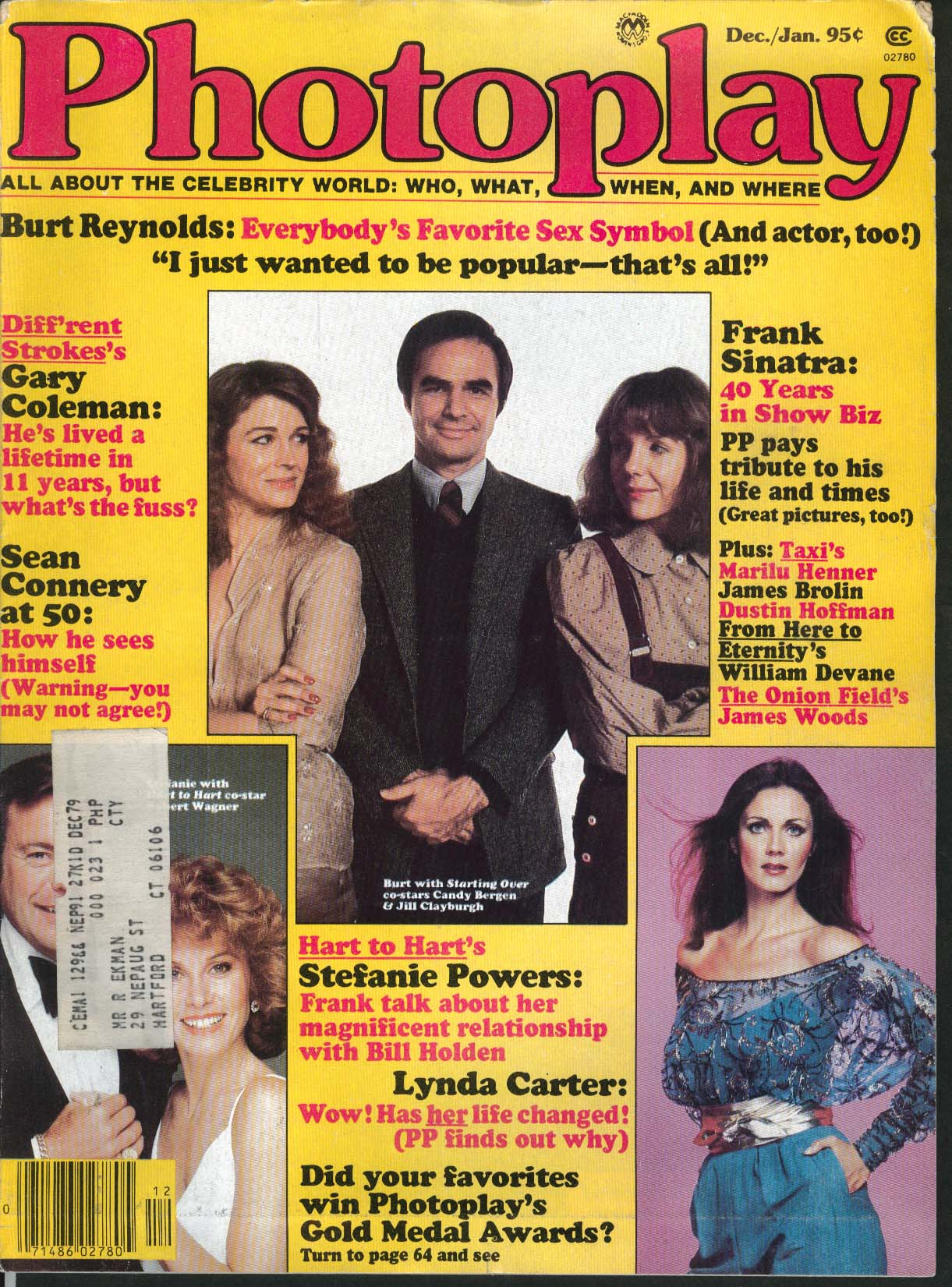 PHOTOPLAY Burt Reynolds Sean Connery Frank Sinatra 1980