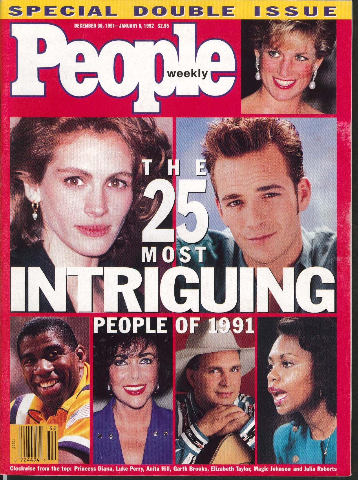 PEOPLE Julia Roberts Luke Perry Princess Diana etc 1991