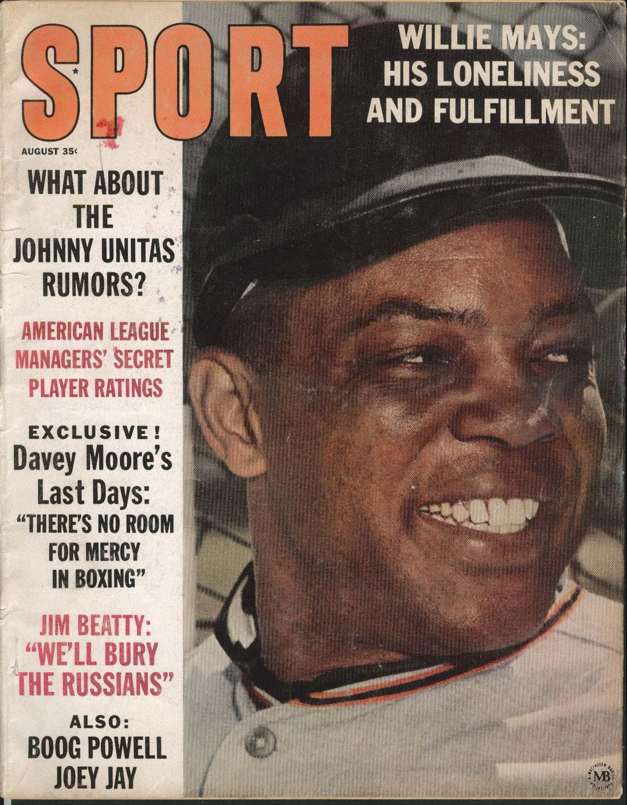 SPORT Willie Mays Johnny Unitas Moore Beatty ++ 8 1963