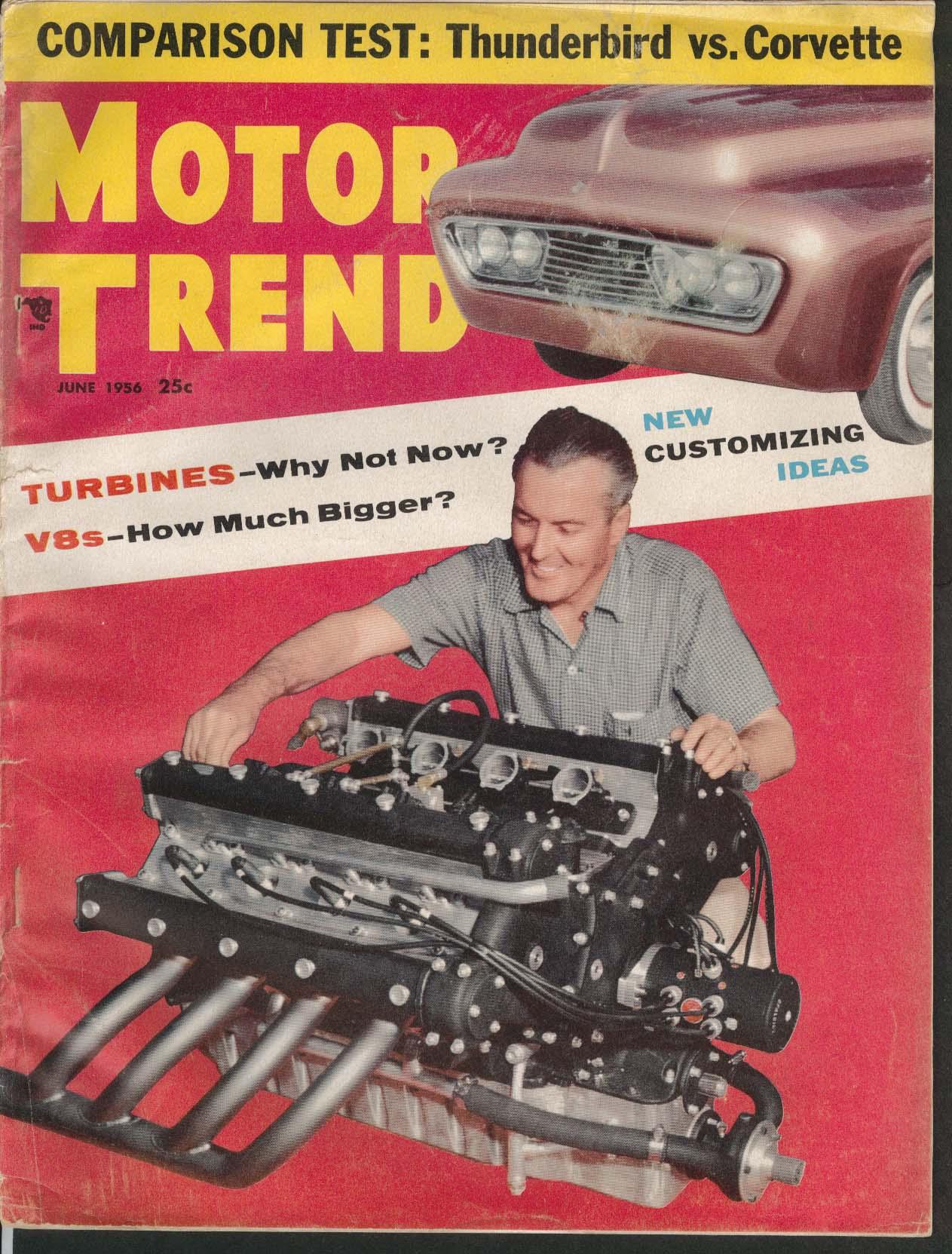 MOTOR TREND Thunderbird Corvette Buick Special + 6 1956 | eBay