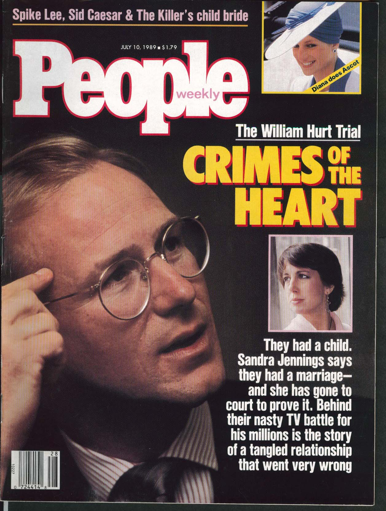 PEOPLE William Hurt Sandra Jennings Spike Lee 7/10 1989