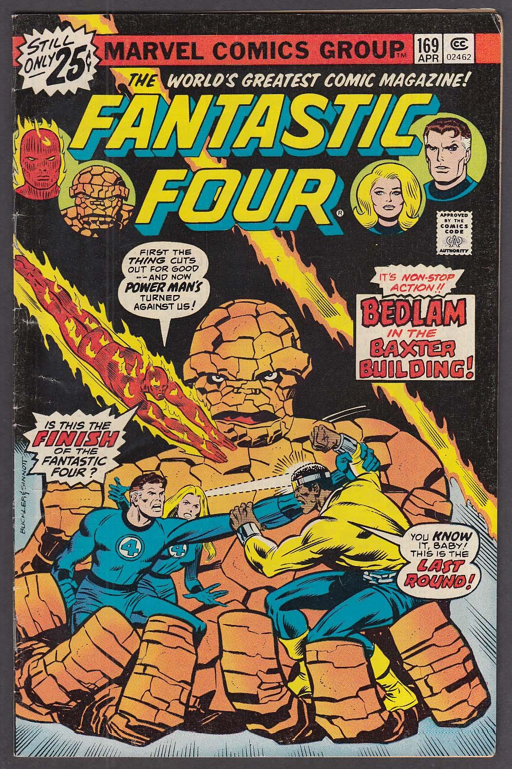 FANTASTIC FOUR #169 Marvel comic book 4 1976