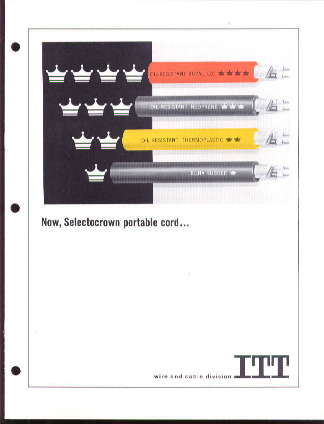 ITT Selectrocrown Portable Cord catalog 1960s