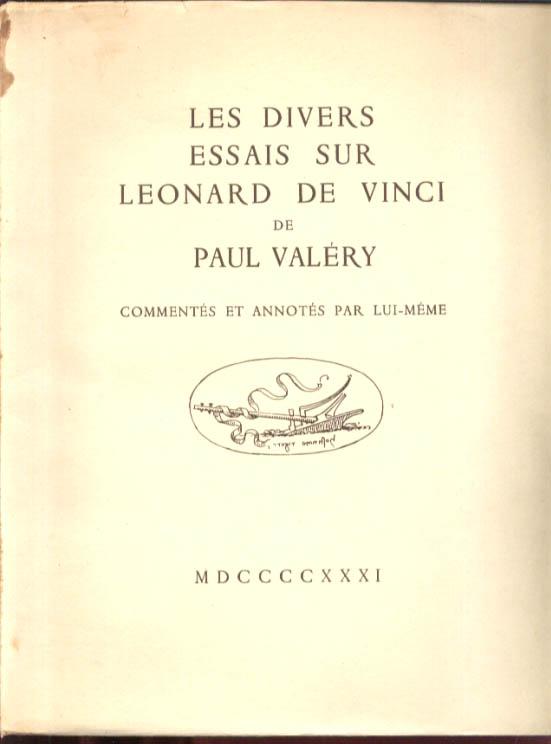 Paul Valery Divers Essais Leonardo da Vinci 1931 1st ed