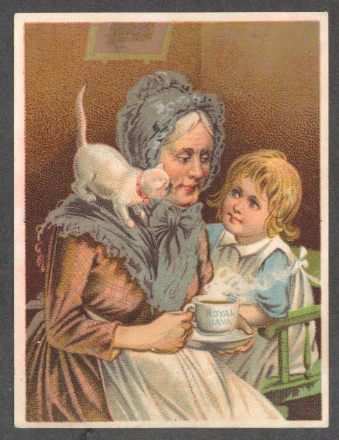 Dwinell Hayward Royal Java trade card granny kid & cat