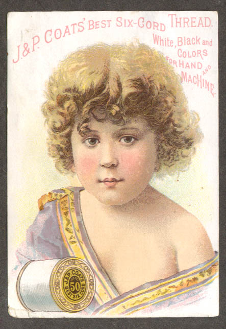 Image for J&P Coats Best Six-Cord Thread trade card child
