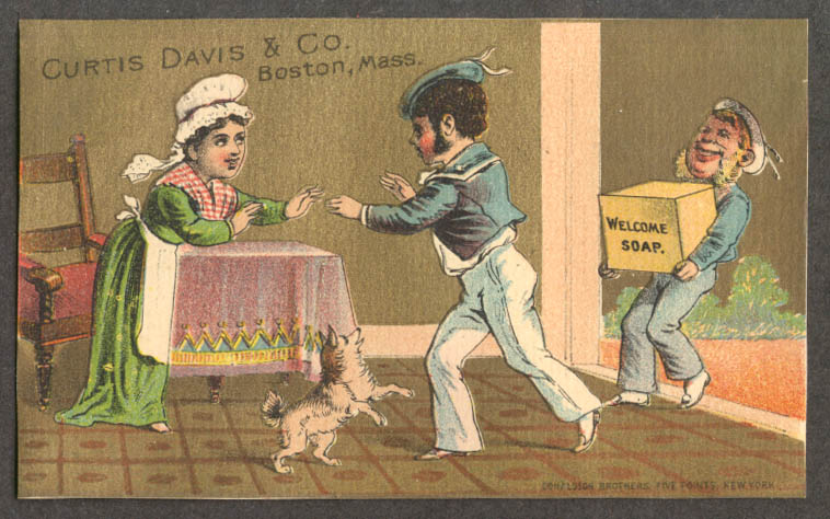 Image for Curtis Davis Boston Welcome Soap sailors trade card