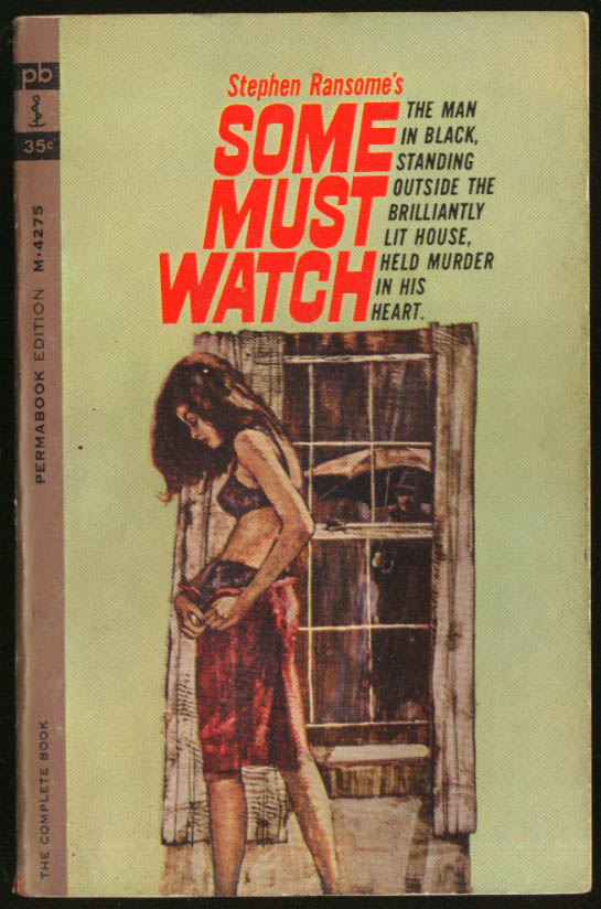 Image for Stephen Ransome Some Must Watch GGA pb black bra garter belt peeping tom