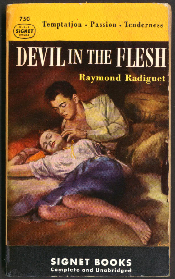 Image for Raymond Radiguet: Devil in the Flesh GGA pb couple in bed gams bottle