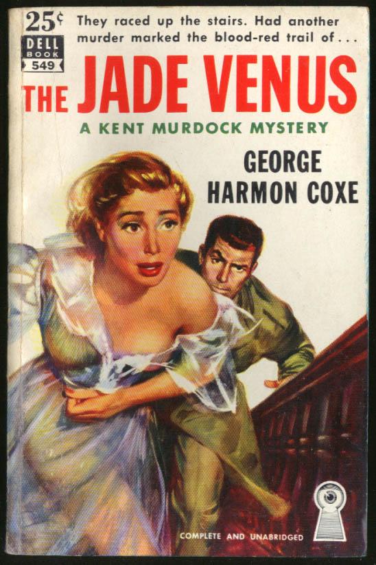 Image for George Harmon Coxe: The Jade Venus GGA noir pb bosom flees up stairs