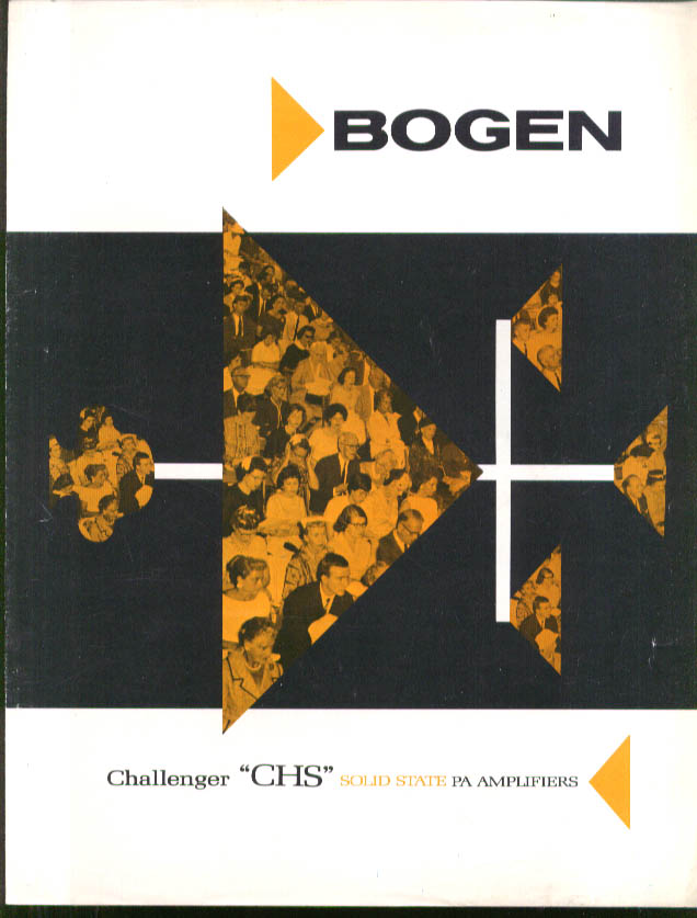 Image for Bogen Challenger CHS Solid State PA Amplifier folder ca 1960