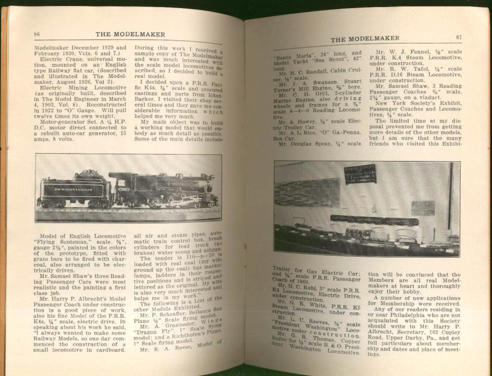 Image for MODELMAKER Philadelphia Experimental & Model Engineer Exhibit 5 1931