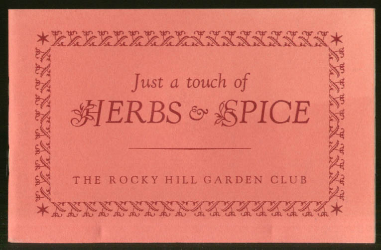 Image for Rocky Hill Garden Club Just a Touch of Herbs & Spice recipe booklet 1959 CT