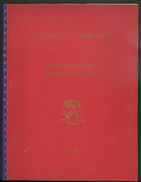 University of Pennsylvania Interfraternity Rushing Directory 1949