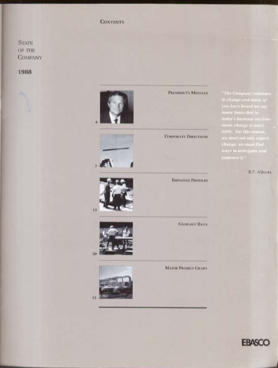 EBASCO State of the Company Report 1988 ENSERCH Engineering & Construction