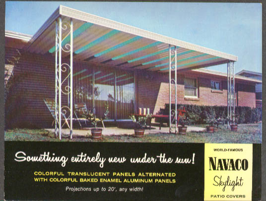 Navaco Skylight Patio Cover advertising postcard Howmet 1968