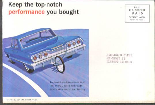 Image for Chevrolet dealer mailer Guardian-Tune 1963 Impala