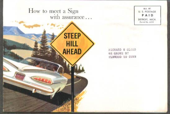 Image for Chevrolet dealer mailer 10-point Safety Service 1959 4-dr HT