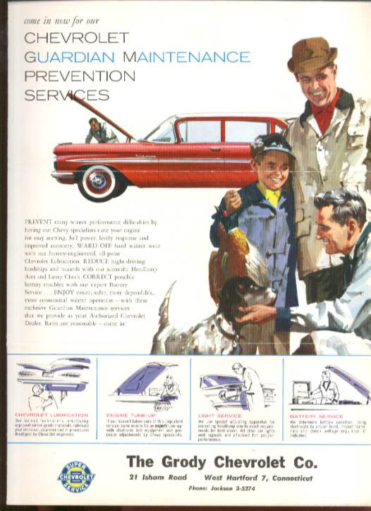 Image for Chevrolet dealer mailer Guardian Maintenance 1959 Parkwood Wagon