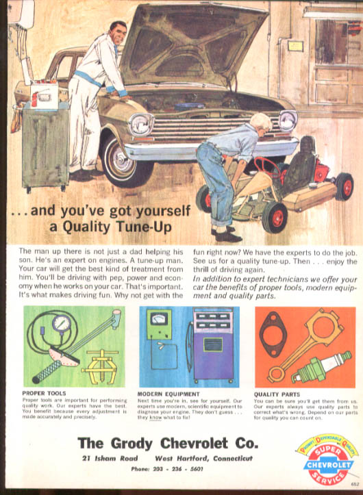 Image for Chevrolet dealer mailer Quality Tune-Up Chevy II & Go-Kart