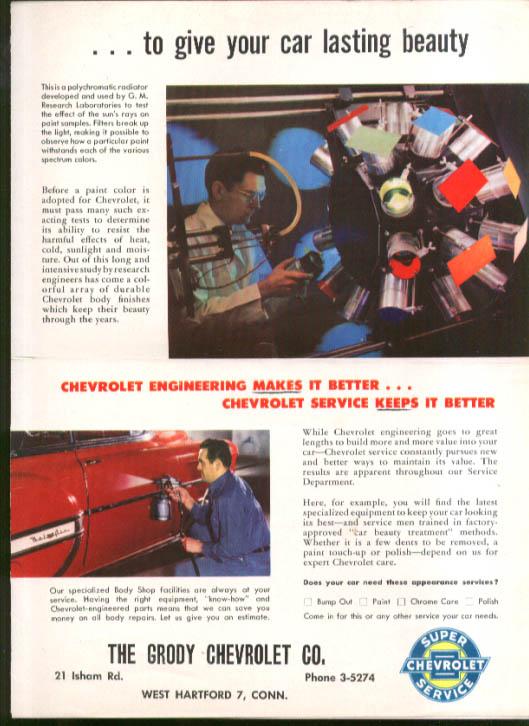 Image for Chevrolet dealer mailer Lasting Beauty 1953 Bel-Air 2-door