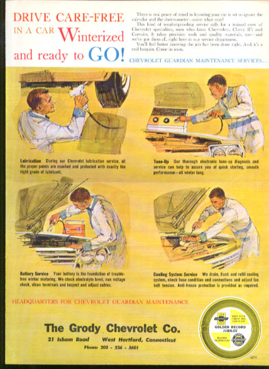 Image for Chevrolet dealer mailer Care-Free Winterized 1962 4-dr