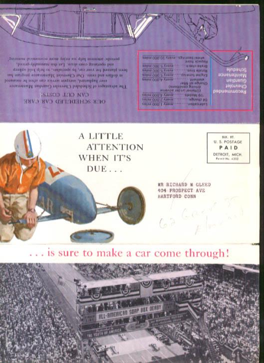 Image for Chevrolet dealer mailer Guardian Maintenance 1958 station wagon Soap Box Derby