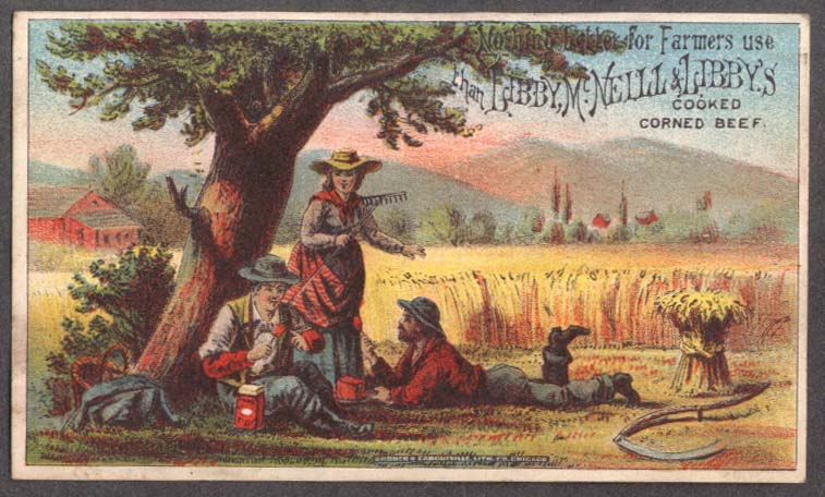 Image for Libby McNeill & Libby Corned Beef trade card Nothing Better for Farmers 1880s