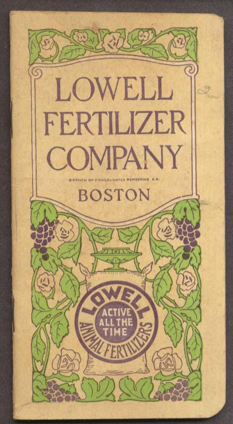 Image for Lowell Fertilizer Pocket Memorandum Book 1929 Boston