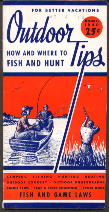 Image for Outdoor Tips How & Where to Fish & Hunt 1940 Annual