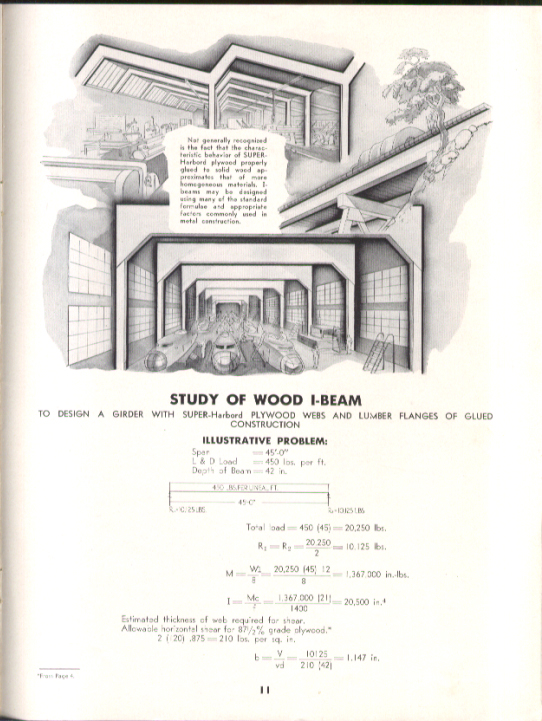 Image for Harbor Plywood Interpretive Analyses of Typical Design Problems brochure 1942