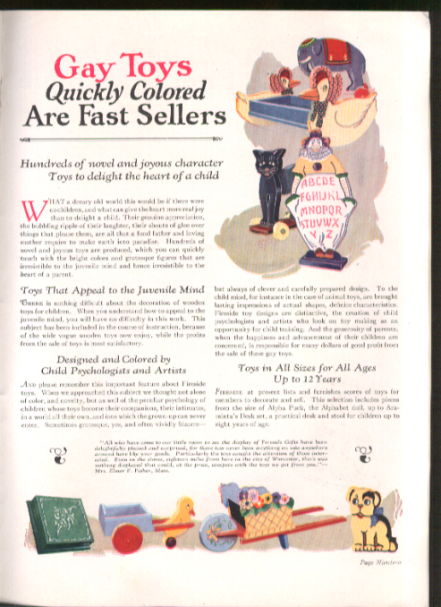 Image for Fireside Industries Work-at-Home Crafts brochure Adrian MI 1927