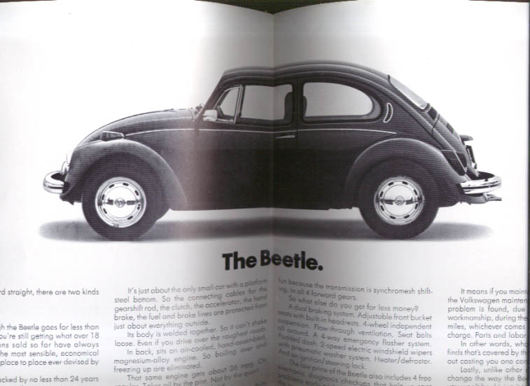 Image for Volkswagen presents the Beetle Almost as super as the Super Beetle folder 1970s