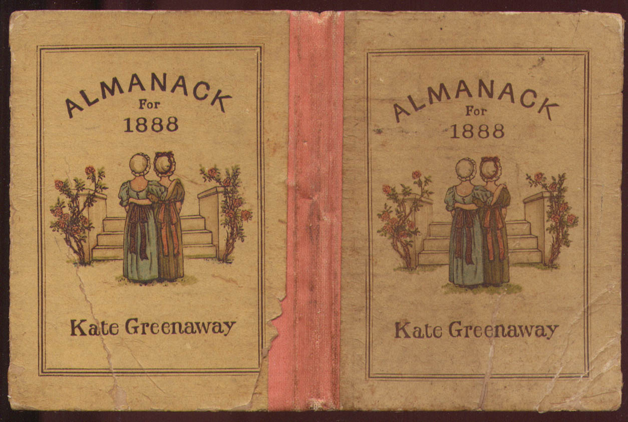 Kate Greenaway Almanack for 1888 complete original 1st edition