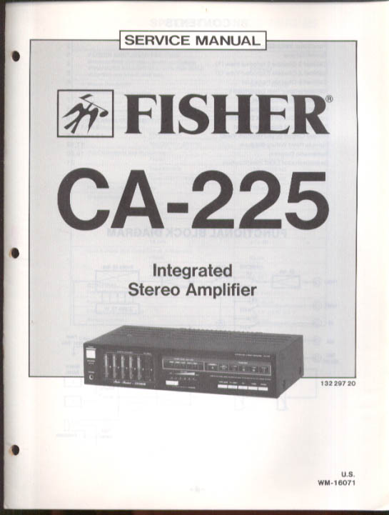 Image for Fisher CA-225 Integrated Stereo Amplifier Service Manual 1985