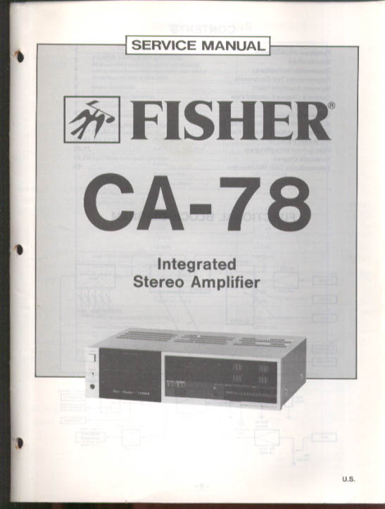 Image for Fisher CA-78 Integrated Stereo Amplifier Service Manual 1983