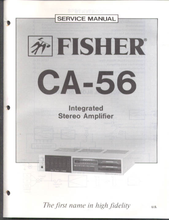 Image for Fisher CA-56 Integrated Stereo Amplifier Service Manual 1983
