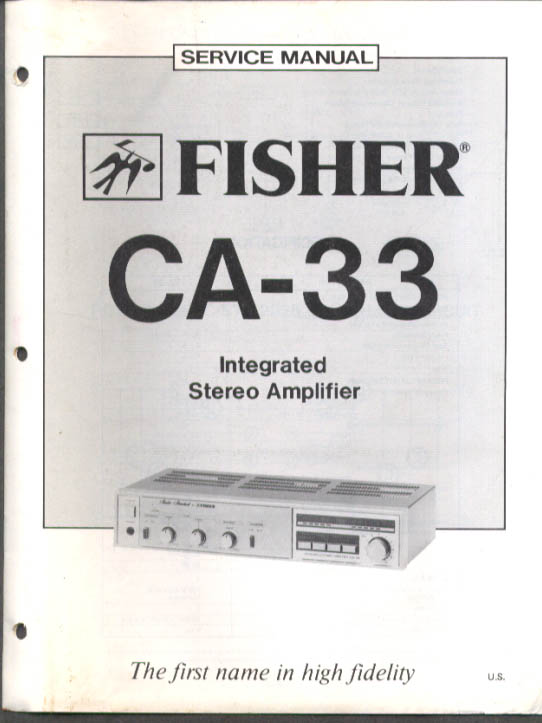 Image for Fisher CA-33 Integrated Stereo Amplifier Service Manual 1982