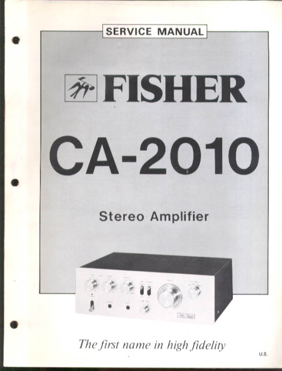 Image for Fisher CA-2010 Stereo Amplifier Service Manual undated