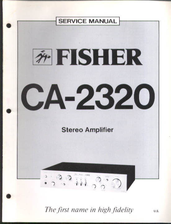 Fisher CA-2320 Stereo Amplifier Service Manual 1979