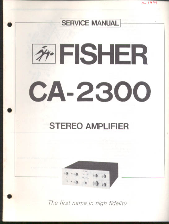 Image for Fisher CA-2300 Stereo Amplifier Service Manual 1977