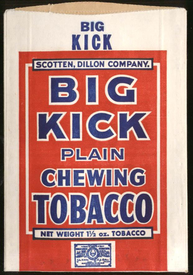 Image for Big Kick Chewing Tobacco unused pouch Scotten Dillon Co ca 1940s