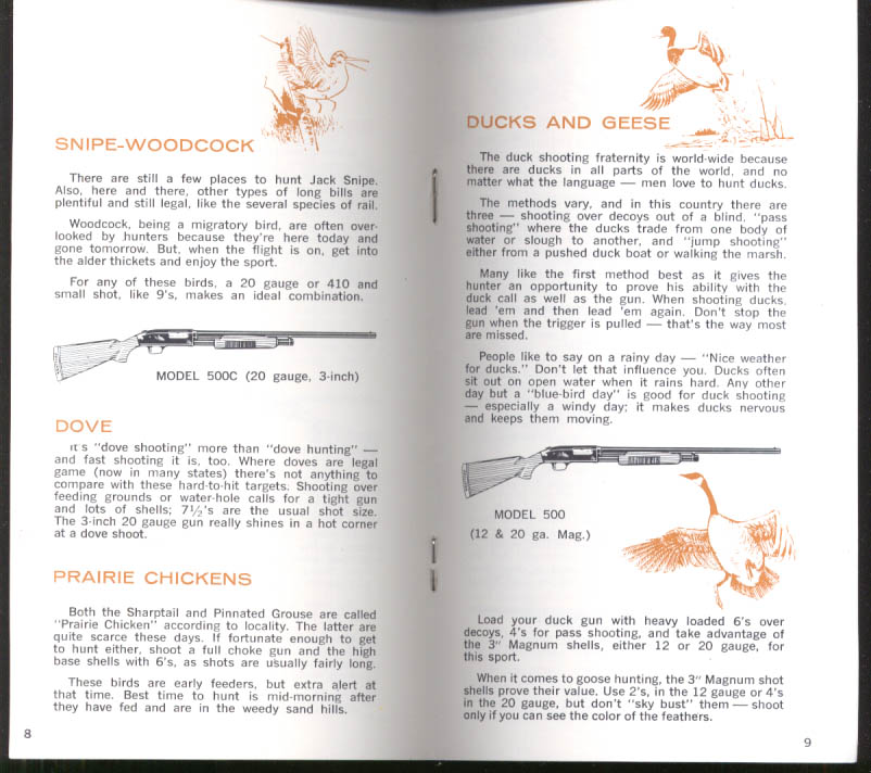 O F Mossberg Game & Guns Guide to Choosing the Right Gun 4th ed 1968