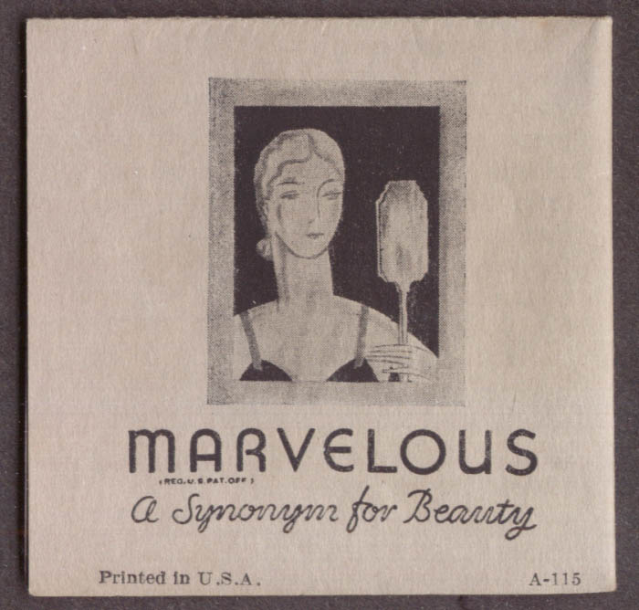 Image for Richard Hudnut Marvelous Beauty Products folder & instructions ca 1930s