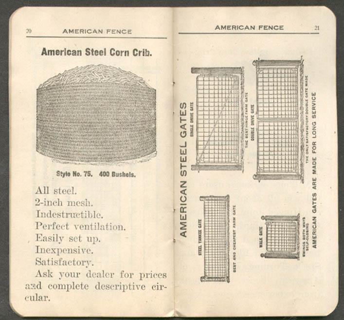 Image for American Steel & Wire Fence Memorandum Book 1908-1909