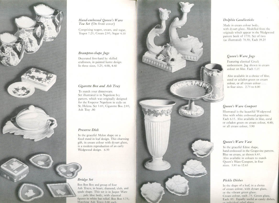 Image for Wedgwood A Living Tradition Gift Catalog folder Toronto 1950s