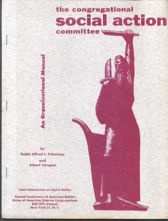 Social Action Organizational Manual Union of American Hebrew Congregations 1954