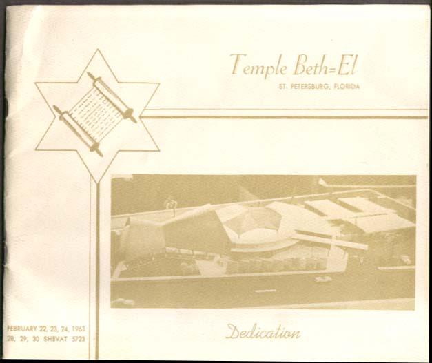 Temple Beth-El St Petersburg FL Dedication Program 1963